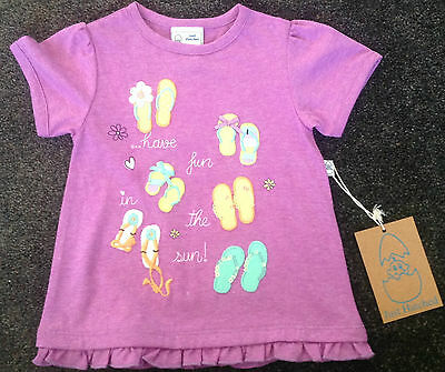 Boutique Just Hatched Baby Girls Short Sleeved Purple Top  sz 0