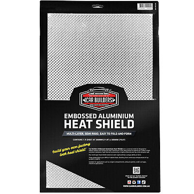 HEAT SHIELD Embossed aluminium 300mm x 500mm turbo manifold exhaust race car