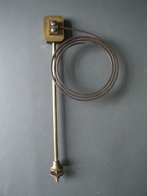 Vintage clock chime gong with metal coil and fixing bolt spares parts • £10.00
