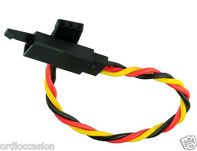 """NEW JR Servo lead extension 15cm twisted wire Lock HOOK 22AWG (M/F) about 6"""""""