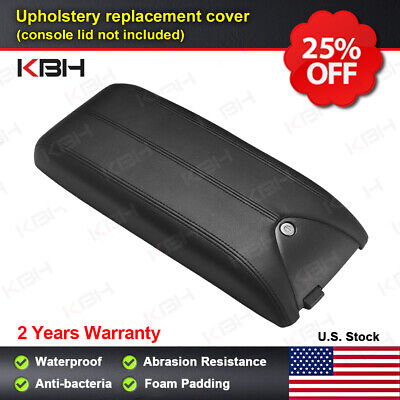 Leather Armrest Center Console Lid Cover Fits for Acura RDX 2007-2012 Black
