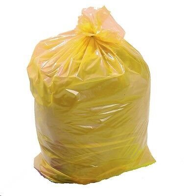 25 x  Large Clinical Waste Bags - Heavy Duty - Yellow Disposable