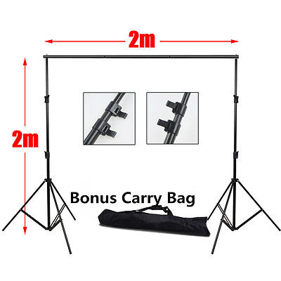 2x2M Photo Studio Portable Backdrop Background Stand Support Adjustable Crossbar