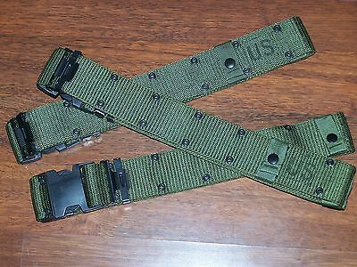 Pistol Belt Genuine Military Issue, Made USA f USMC Army Scout & Shelby P38 Can
