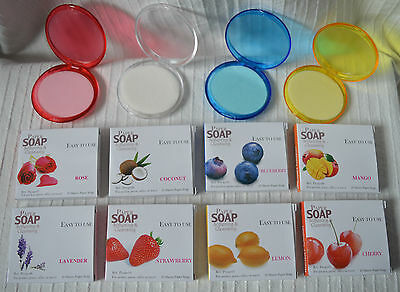 Fragranced Paper Travel Soap in Case softening cleansing pocket size mini fruity