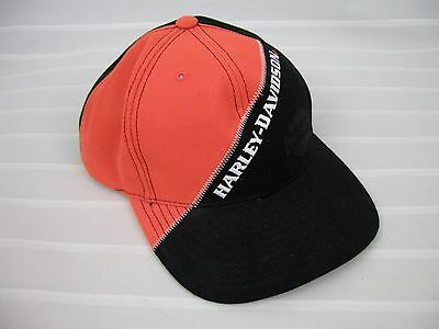 Harley-Davidson Blk/ Orange Baseball Cap