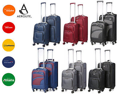 CLEARANCE Aerolite Lightweight 4 Wheel Suitcase Hand Cabin Extra Large Luggage