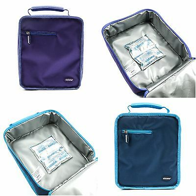 Sistema Insulated Lunch Box Bag Storage Portable Food School FREE Cooler Packs