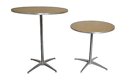"30"" Cocktail Bistro Round Wood Wedding Tables or Bar Table, FREE SHIPPING"
