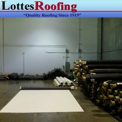 10' x 30' 45 Mil White TPO RV Rubber Roof Kit, membrane, adhesive, tape, caulk