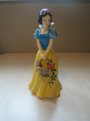 "Disney 8"" Snow White Plastic Coin Bank with Stopper"