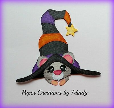 Craftecafe Mindy Halloween Mouse  premade paper piecing scrapbook page border
