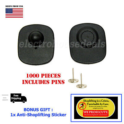 1000 pcs EAS RF 8.2 MHz Anti Theft  Sensor Tag Checkpoint  Compatible with pins