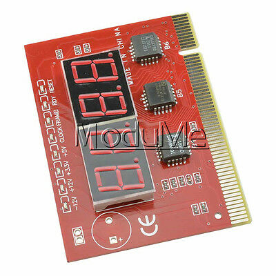LED 4 Digit Analysis Diagnostic Tester POST Card PCI PC Analyzer Motherboard ME