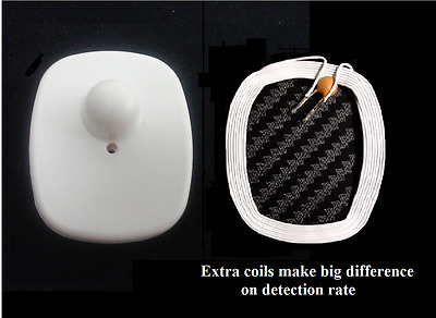 Medium size 1000 white Checkpoint Compatible EAS RF Anti Theft Security Tags