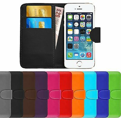Pu Leather Wallet Book Card Holder Case for Vodafone Smart 7 Phones