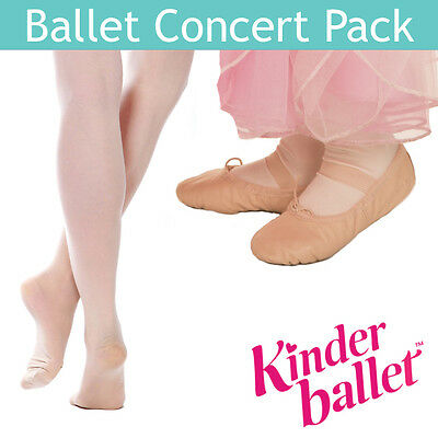 Ballet Concert Pack - Ballet Shoes and Ballet Tights - Kids - Children's - New