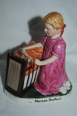 Norman Rockwell figurine, Girl with dolls