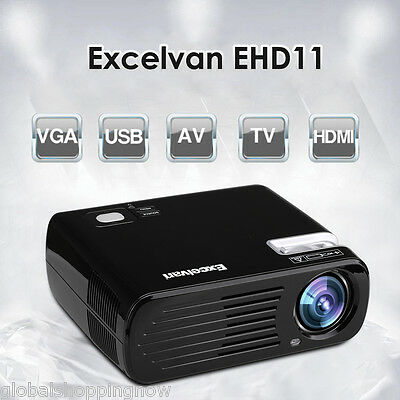 FULL HD 1080P Projector Home Theater Cinema HDMI SD USB VGA for Android IPHONE