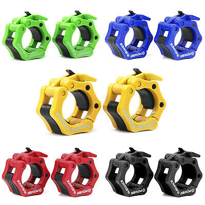 """Pair of 2"""" ABS Olympic Lock Barbell Clamp Collars CrossTrainning Weight Bar"""