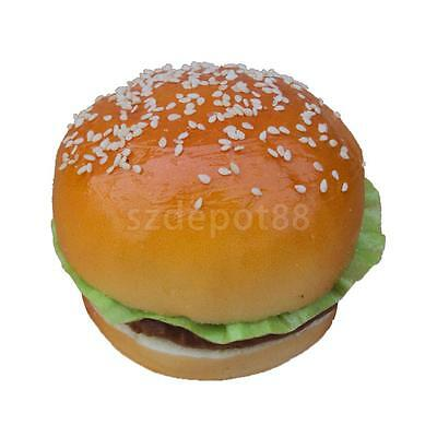 Realistic Fake Hamburger Bread Food Pretend Toys Bakery Staging Props #A