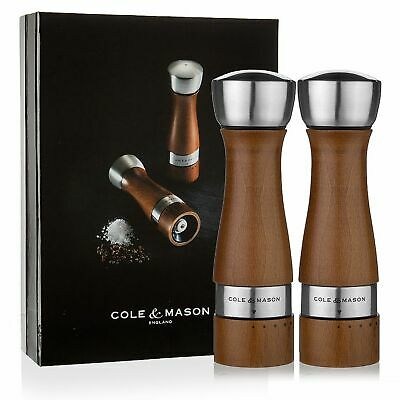 NEW COLE & MASON SALT AND PEPPER MILLS Mill Grinder Grind Shaker Set OLDBURY