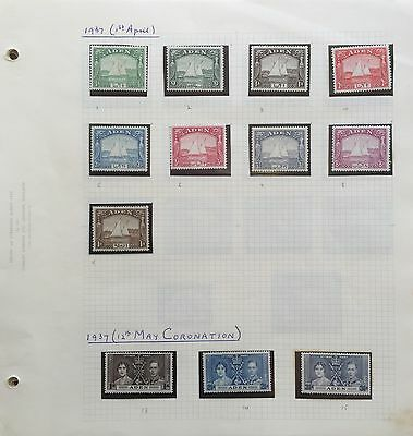 Aden Stamps Incredible Mint Collection Catalogue Value $379