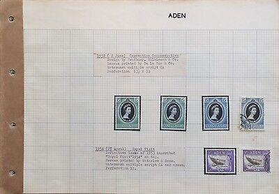 Aden Stamps Fantastic Collection Catalogue Value $500+