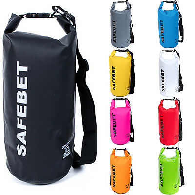 5L-20L Outdoor Waterproof Backpack Dry Bag Pouch Canoe Swimming Camping Floating