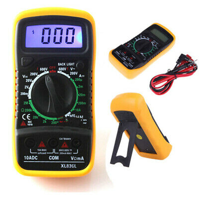 Digital XL-830L LCD Multimeter Voltmeter Ammeter Ohmmeter OHM VOLT Tester UK
