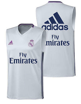 Real Madrid Adidas Maglia Allenamento Training Shirt Normale Fly Emirates