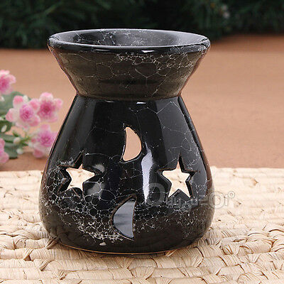 Black Ceramic Oil Burners Lavender Fragrance Aromatherapy Scent Essential New