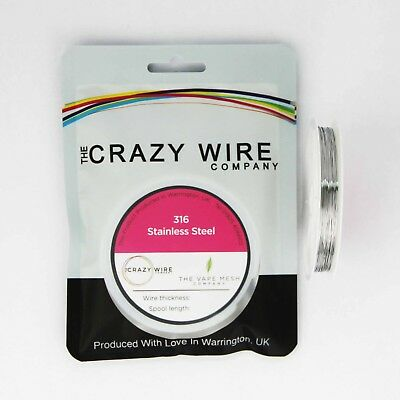 316 Marine Grade Stainless Steel Wire by The Crazy Wire Company