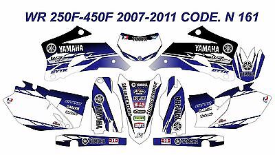 YAMAHA WR450F-250F 2007-2011 Racing Decals Sticker Graphics Kit Unique Quality