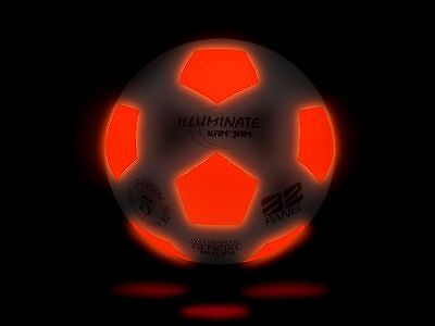 Ultra-Bright Light-Up LED Glow Soccer Ball by Kan Jam Illuminate