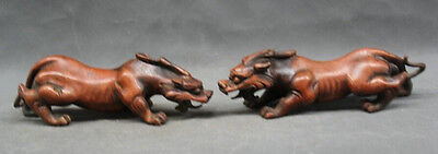 "10"" Chinese Fengshui bronze Exorcise Evil spirits Pixiu Dragon Beast statue Pai"