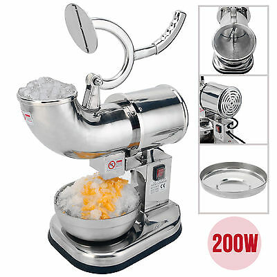 440lbs 200W Electric Ice Crusher Shaver Machine Snow Cone Maker Stainless Steel
