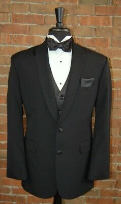 c83cce04644 MENS 39 S BLACK SHAWL DINNER DINNER JACKET TUXEDO SLIM FIT by 7 UNLIMITED