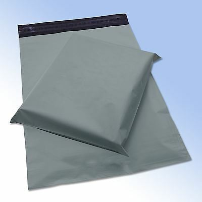 """10 Strong Grey Self Seal Poly Plastic Postage Mailing Bags 12x16"""" 305x405mm"""