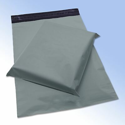 """1000 Strong Grey Self Seal Poly Plastic Postage Mailing Bags 12x16"""" 305x405mm"""
