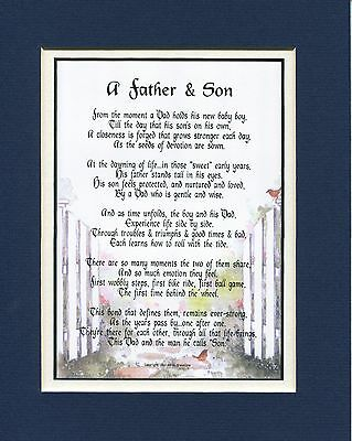 25A GIFT PRESENT For Father Or Son Poem Keepsake Fathers Day