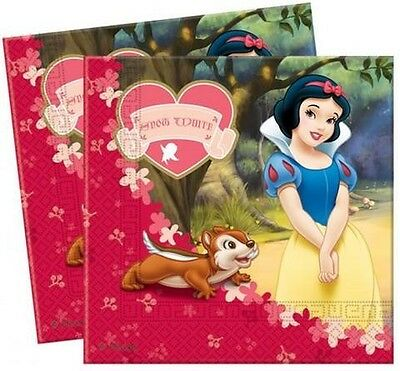 Snow White Lunch Napkins - 20 pack