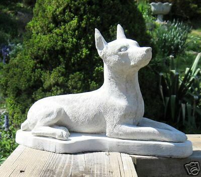 Concrete Miniature Pinscher Dog Statue / Monument