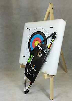 ASD Wildcat Kids Compound Archery Bow 12Lbs Package 3 W/ Target Boss & Stand