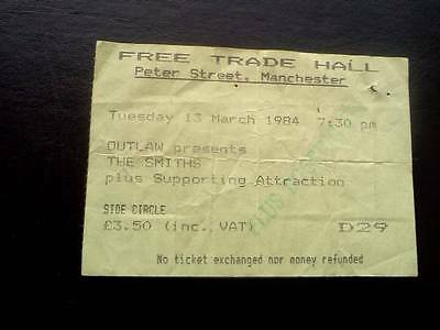 The Smiths  ticket Free Trade Hall Manchester 13/03/84