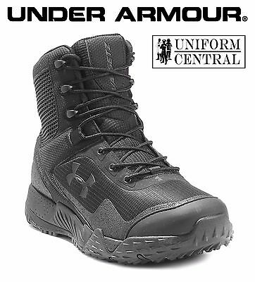 Under Armour UA Men's Black VALSETZ Tactical Side Zip Shoes - ALL SIZES  1257847