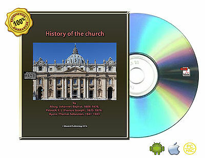 History of the church by Alzog Chatolic, Christian, Apostolic 3 Vol Books On CD