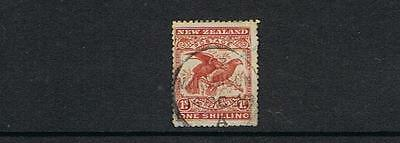 STAMPS  NEW ZEALAND  1898 1/-BIRD  ( USED)   lot NZ 113