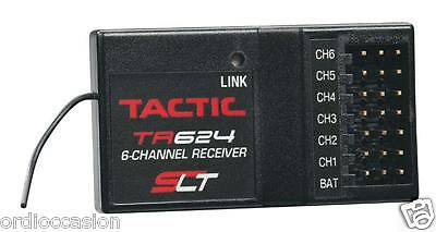 NEW Tactic TACL0624 6Channels TR624 SLT FHSS receiver 2.4GHz