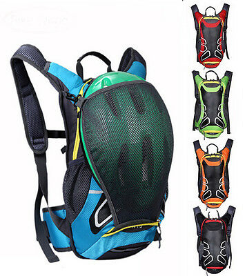 Cycling Hydration Backpack Rucksack Running Water Pack Bag with Helmet Holder15L